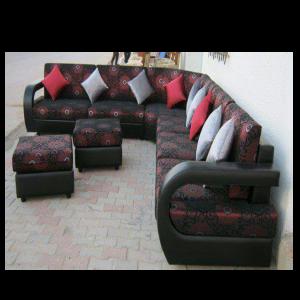 Salon fleuri rouge et noir l 39 ensemble sama t liman mali for Salon rouge et noir
